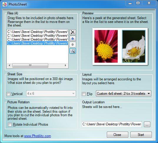 Custom Layouts with PhotoSheet - Photility